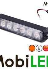 M-LED Flitser Amber Pro 6 Compact R65 12-24 volt