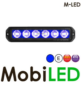 M-LED Flitser Blauw Pro 6 Compact R65
