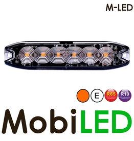 M-LED M-LED Super dunne amber flitser 6 Leds E-keur