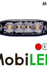 M-LED M-LED Super dunne rood flitser 4 Leds E-keur