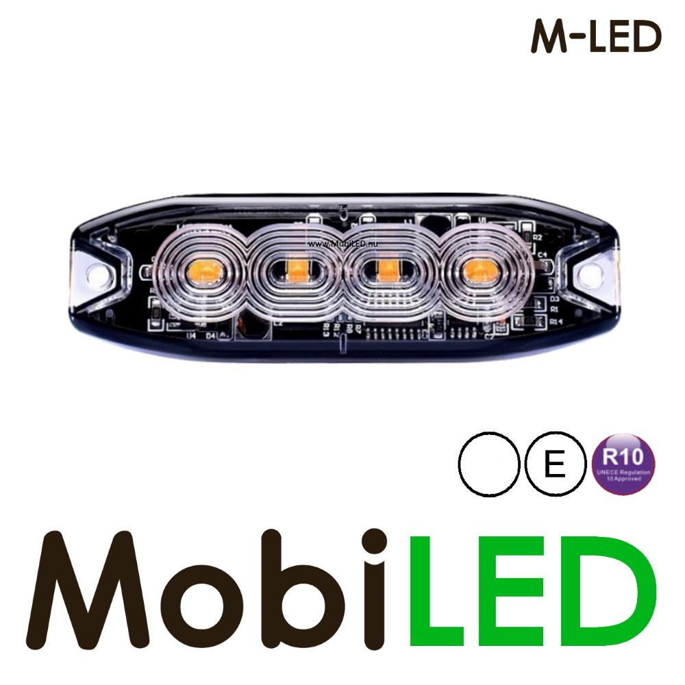 M-LED M-LED Super dunne wit flitser 4 Leds E-keur