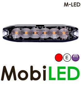M-LED M-LED Flash rouge super fin 6 Led E-mark