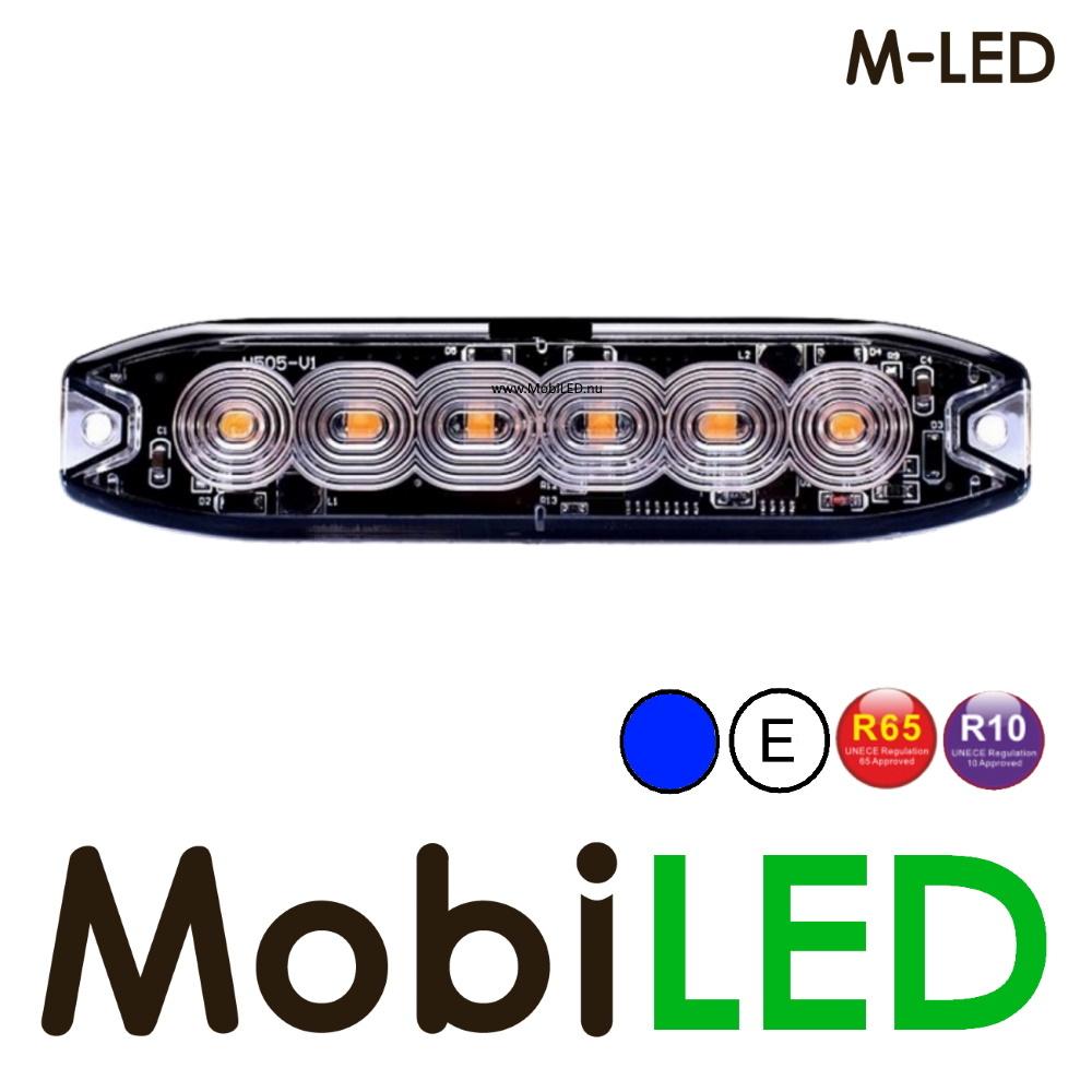 M-LED M-LED Super dunne blauw flitser 6 Leds E-keur