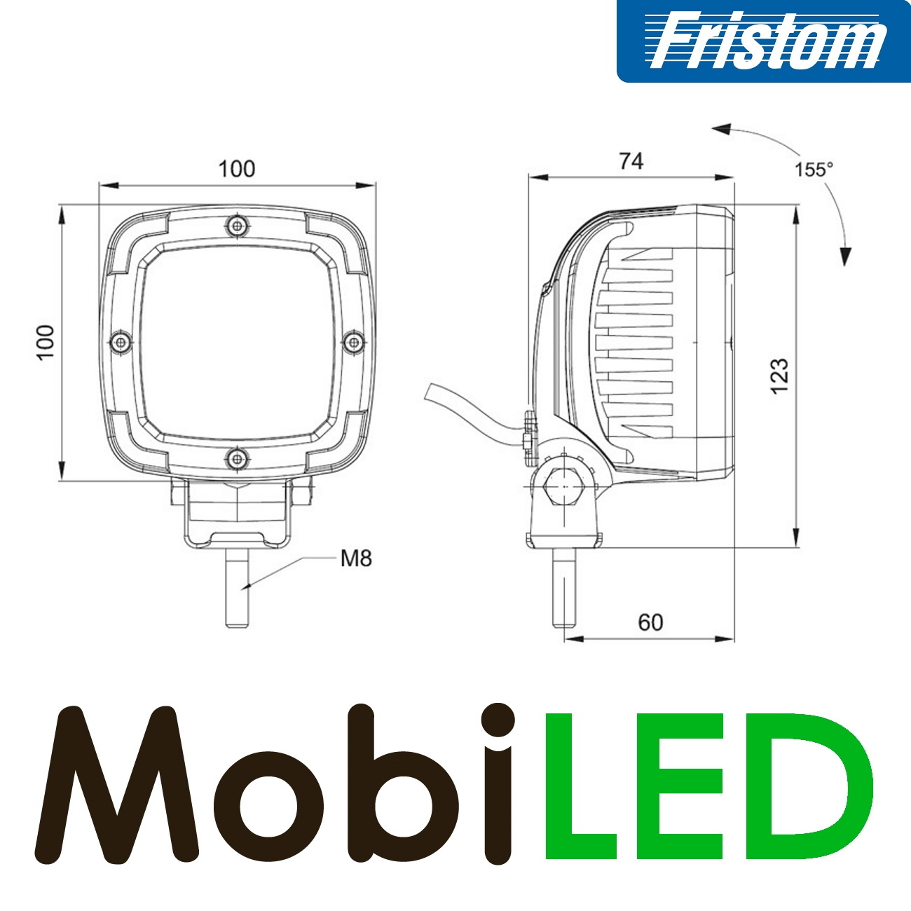 Fristom Frame ADR Werklamp GRIJS