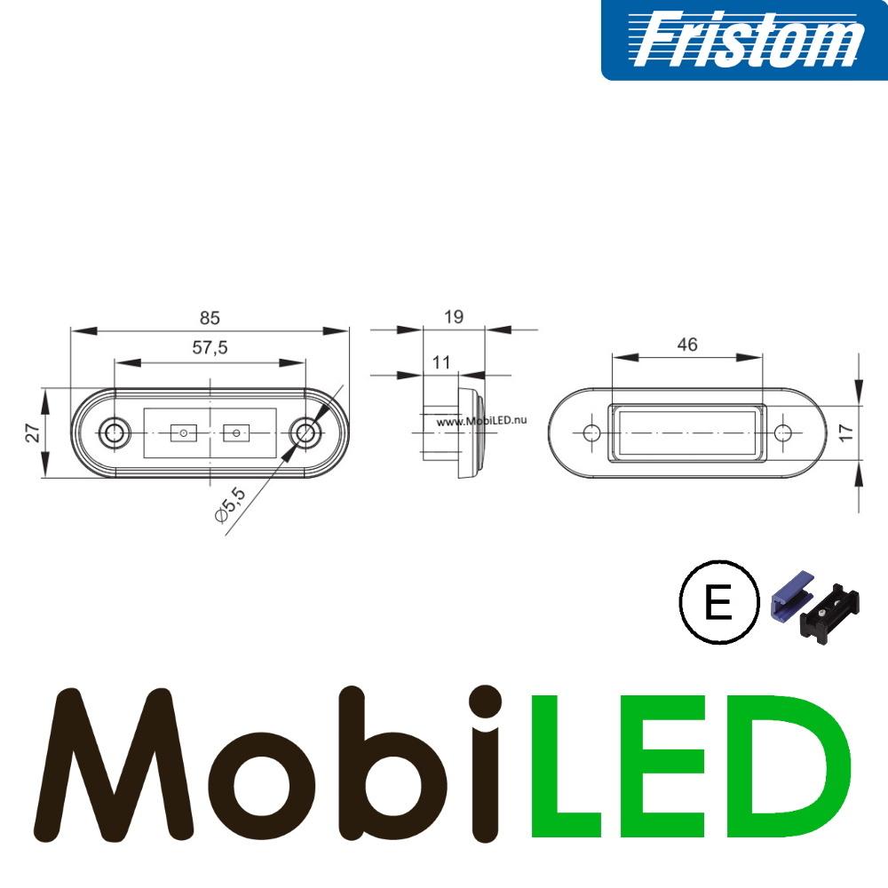 Fristom Markering Slim line 2 leds Rood E-keur