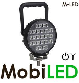 M-LED Lampe de travail ronde M-LED avec interrupteur 24 watts