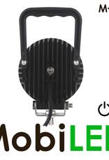 M-LED M-LED Werklamp rond met schakelaar 24 watt 9-32 volt