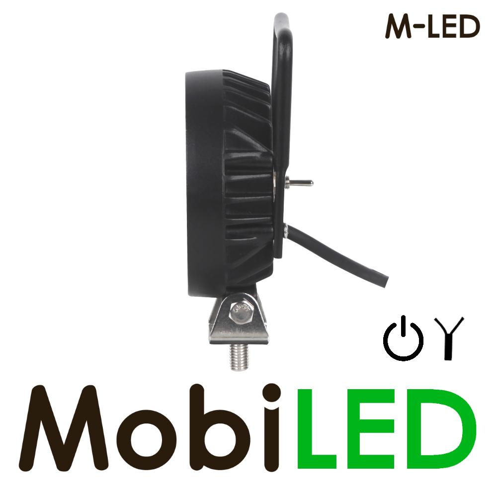 M-LED M-LED Werklamp rond met schakelaar 16 watt 9-32 volt