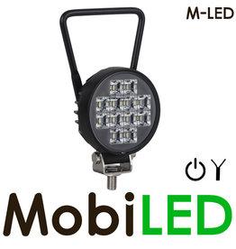M-LED Lampe de travail ronde M-LED avec interrupteur 12 watts