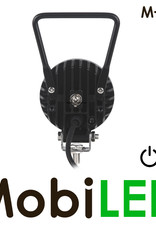 M-LED M-LED Werklamp rond met schakelaar 12 watt 9-32 volt