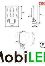 VX70-WD Werklamp 8W set vierkant E-keur