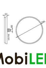 Reflector 8cm rond Rood E-keur blinde montage