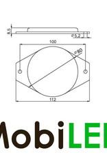 Reflector 8cm rond Wit E-keur