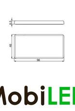 Reflector zelfklevend 96mm rechthoek Wit E-keur