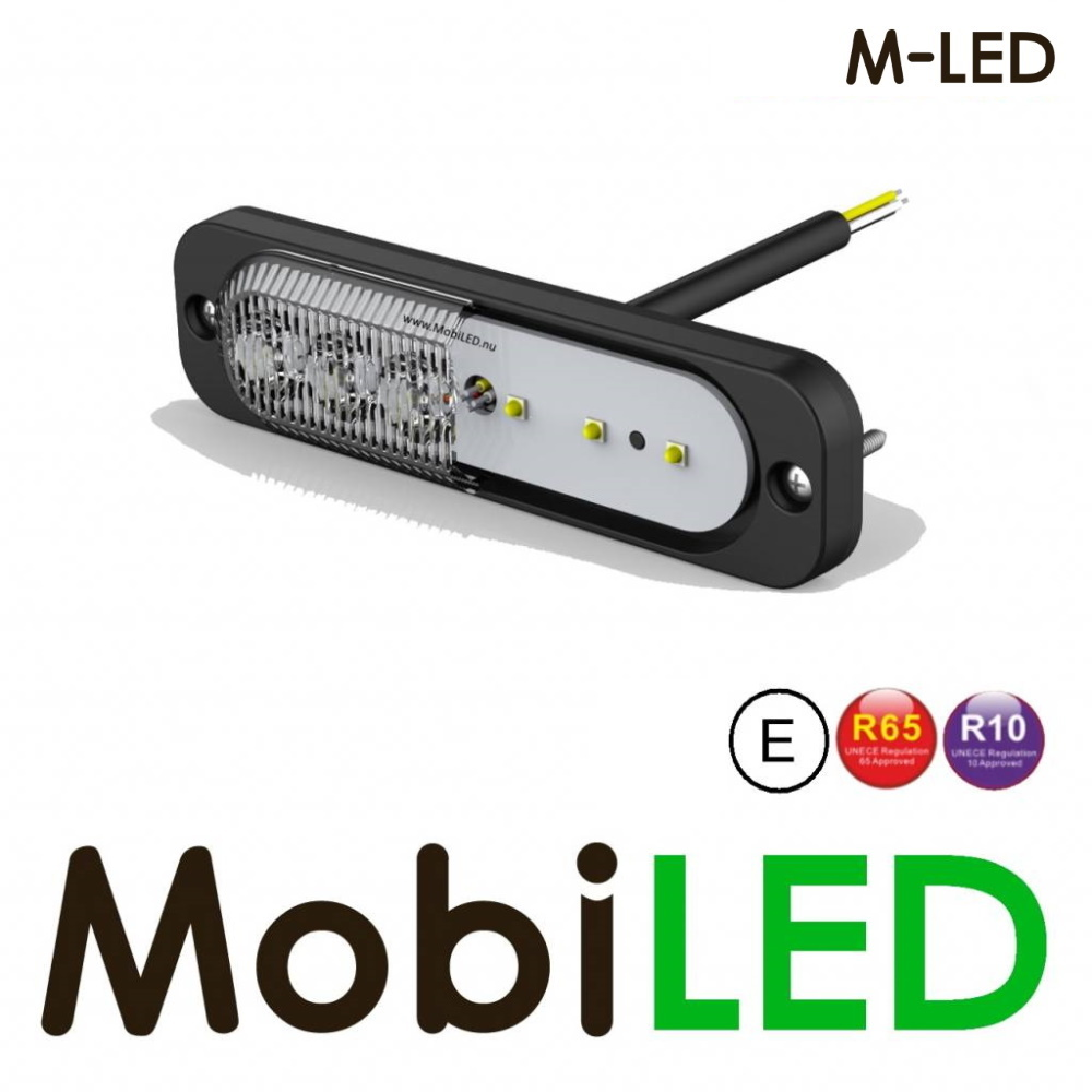 M-LED Flitser Rood Ultra dun E-keur