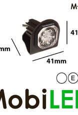 M-LED Hide away LED flitser wit inbouw