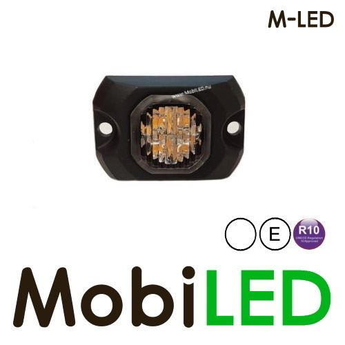 M-LED Hide away LED flitser wit opbouw