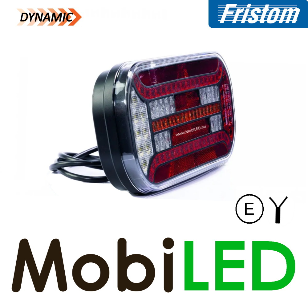 Fristom Achterlicht 5 functies driehoek reflector links kabel