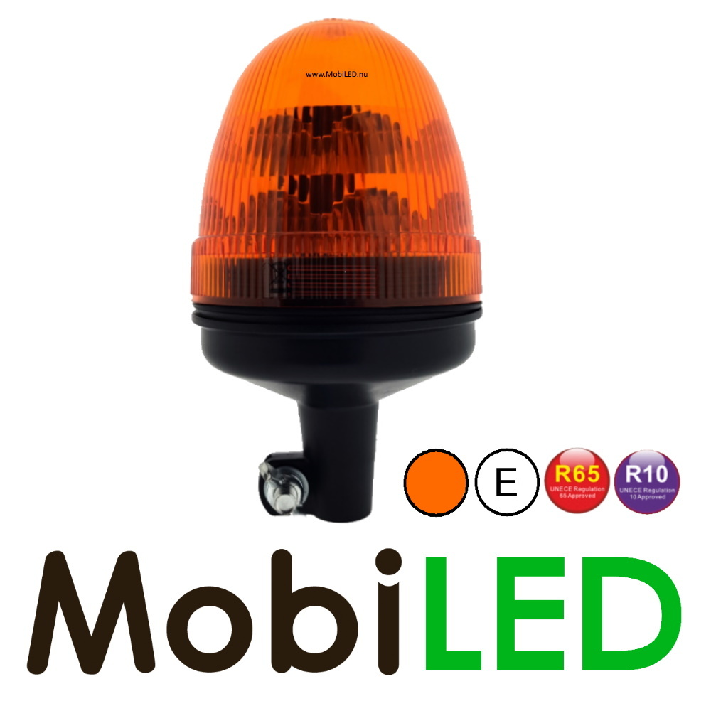 Flitslamp 48 watt Flex DIN Amber E-keur