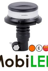 Flitslamp amber met witte lens UFO 27w opsteek DIN flex