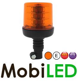 Flitslamp 18 LED opsteek amber