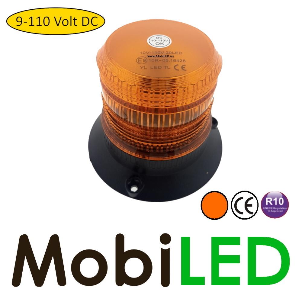Flitslamp 10V-110V amber
