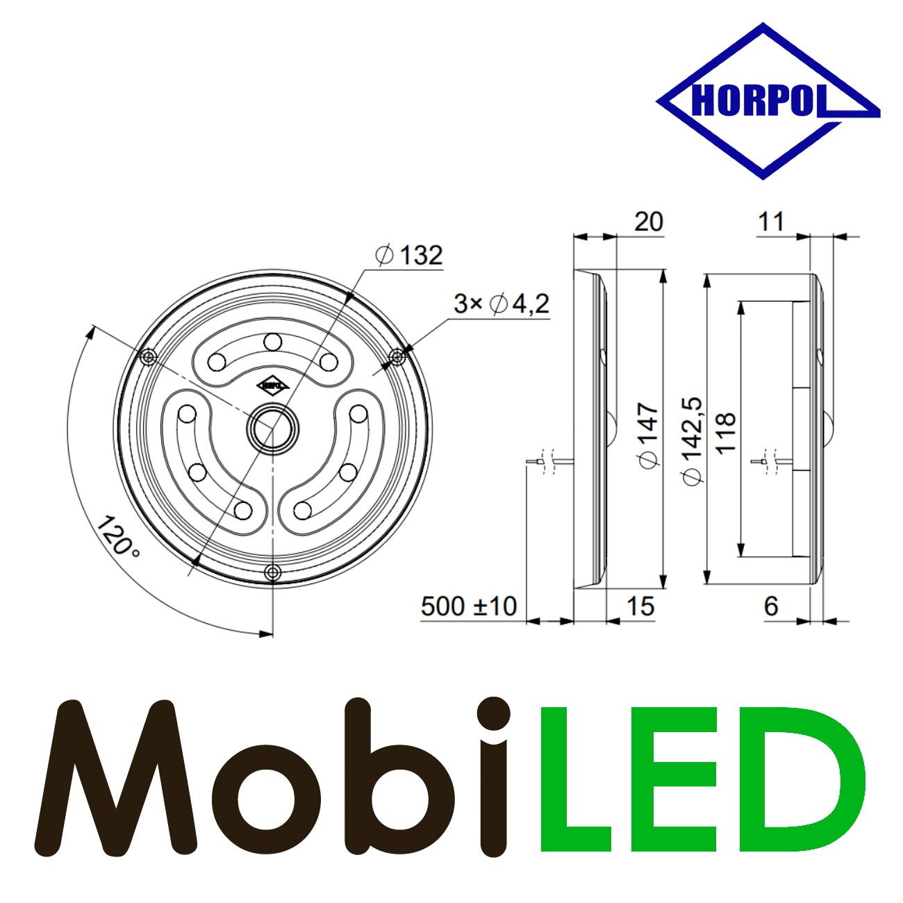 HORPOL Binnenverlichting rond met bewegingssensor 12-24 volt
