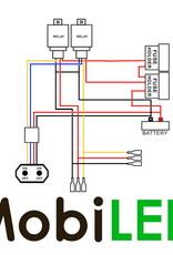 Duo aansluitset 12v 2 lamp functies