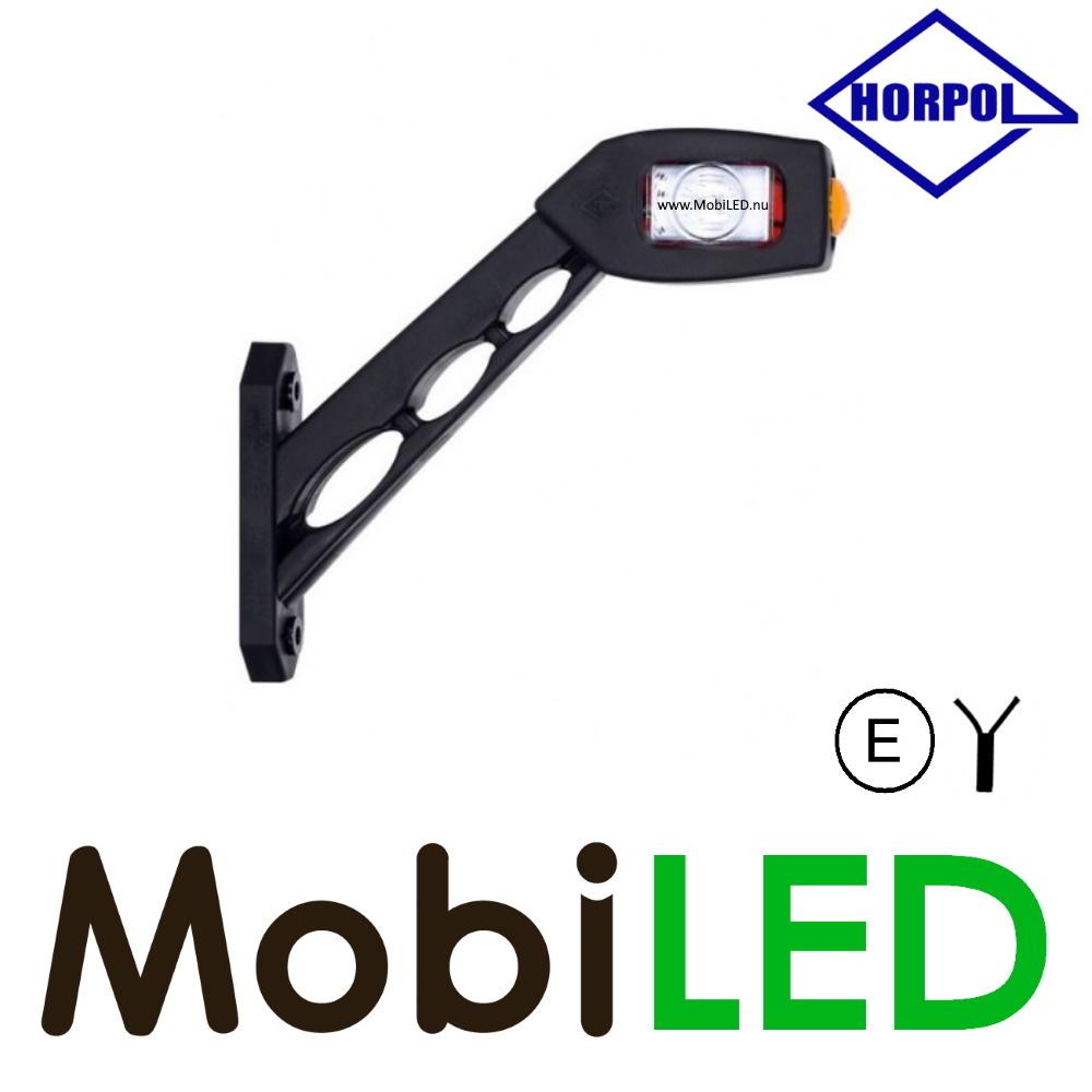 HORPOL Pendellamp Vierkant Schuin model Links Rood/Amber/Wit 12-24 volt E-keur