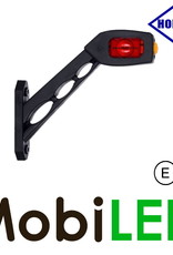 HORPOL Pendellamp Vierkant Schuin model Rechts Rood/Amber/Wit 12-24 volt E-keur