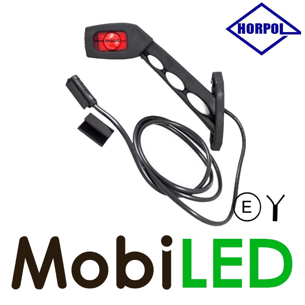 HORPOL Pendellamp met 1.5m kabel Vierkant Schuin mode Links Rood/Amber/Wit 12-24 volt E-keur