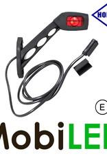 HORPOL Pendellamp met 1.5m kabel Vierkant Schuin model Rechts Rood/Amber/Wit 12-24 volt E-keur