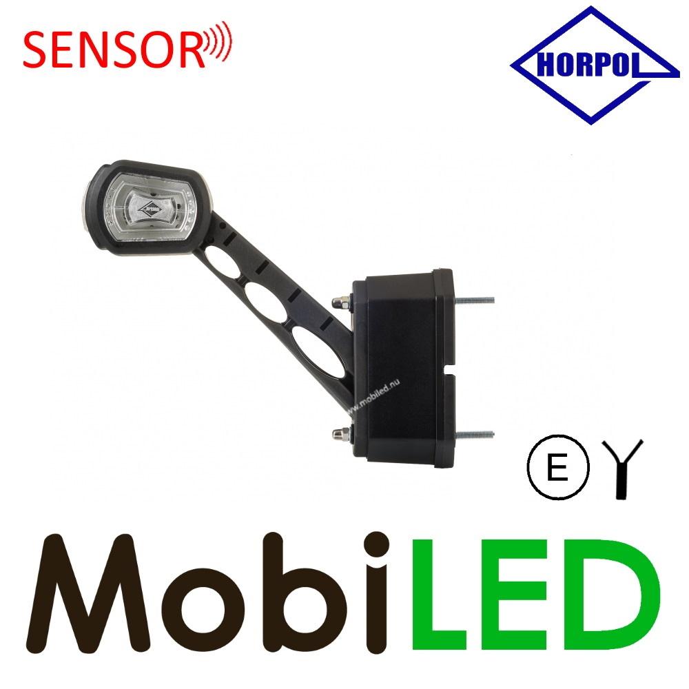 HORPOL Sensor Pendellamp Schuin model Rechts Rood/Amber/Wit 12/24V E-keur