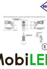 HORPOL Pendellamp Rond Kort Schuin Links 12-24 volt E-keur