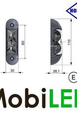 HORPOL Zijmarkering / contourverlichting Rood+Wit+Amber opbouw 12-24v