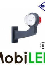 HORPOL LED Breedtelamp Deens model Links Gebogen  12-24 volt E-keur