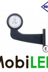 HORPOL LED Breedtelamp Deens model Rechts Gebogen  12-24 volt E-keur