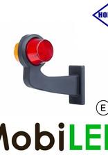HORPOL LED Breedtelamp Deens model Links Gebogen rood/amber E-keur