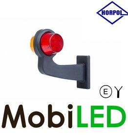 HORPOL LED Deens model Links Gebogen rood/amber