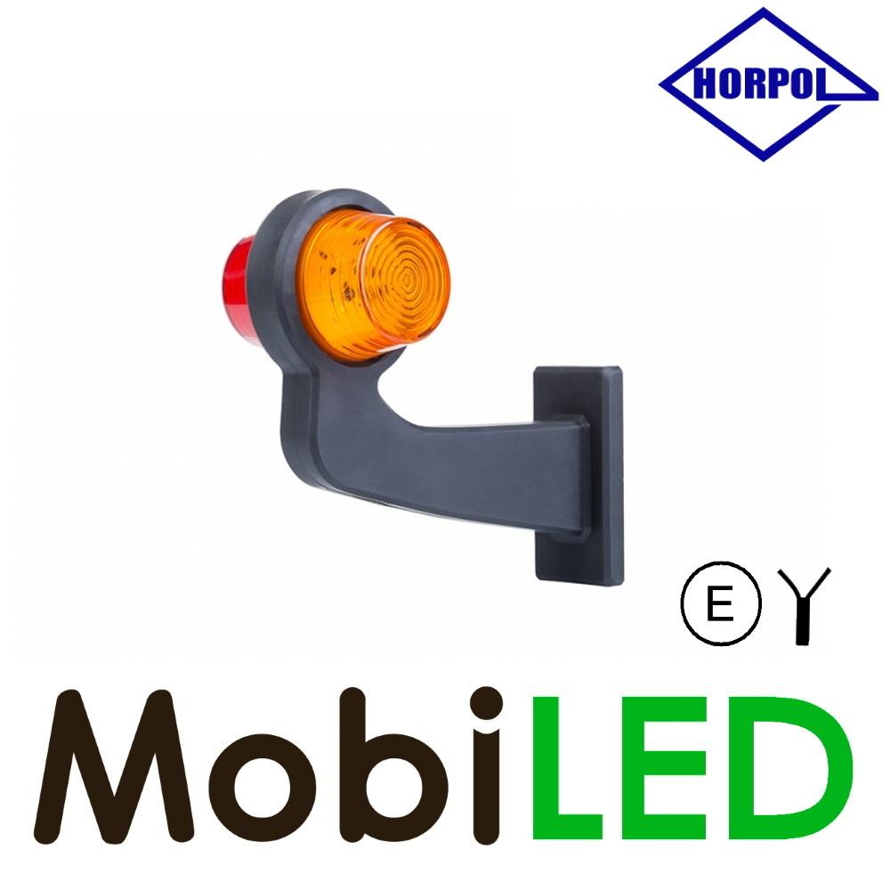 HORPOL LED Breedtelamp Deens model Rechts Gebogen rood/amber