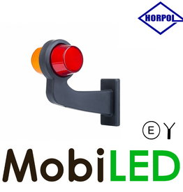 HORPOL Neon LED Deens model Links Gebogen rood/amber
