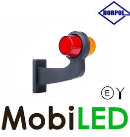 HORPOL Neon LED Deens model Rechts Gebogen  12-24v rood/amber