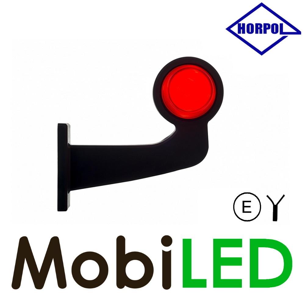 HORPOL Neon LED Breedtelamp Deens model Rechts Gebogen  12-24v rood/amber