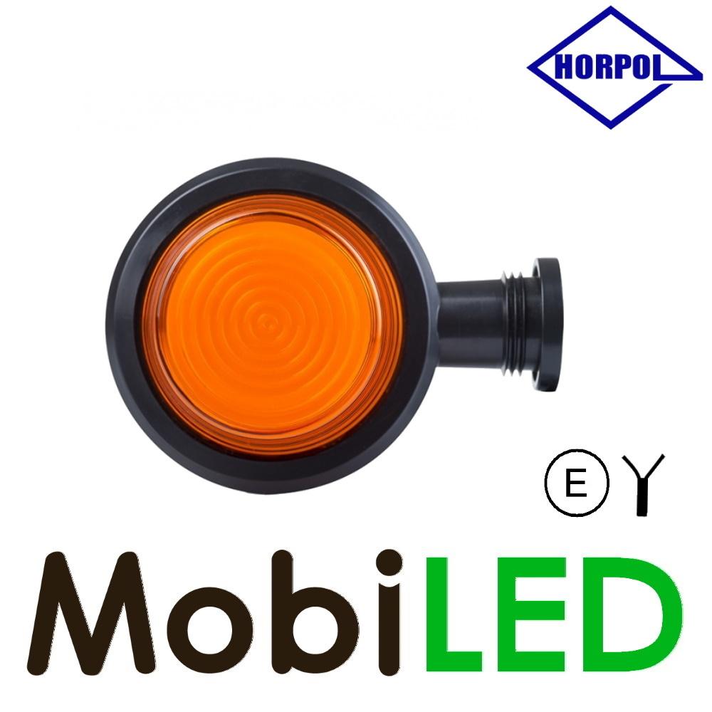 HORPOL Neon LED Breedtelamp Deens model rood/amber Kort  12-24 volt