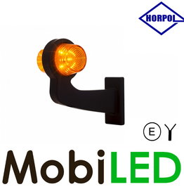 HORPOL LED Deens model Amber Gebogen  12-24v