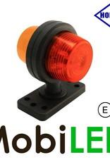 HORPOL LED Breedtelamp Deens model rood/amber Kort  12-24 volt
