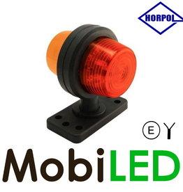 HORPOL LED Deens model rood/amber Kort  12-24v