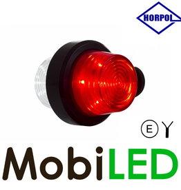 HORPOL LED modèle Danois  rouge / blanc  Courte 12-24V