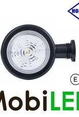 HORPOL LED Breedtelamp Deens model rood/wit Kort  12-24 volt E-keur