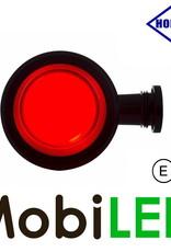 HORPOL NEON Breedtelamp Deens model rood/wit  Kort  12-24 volt E-keur